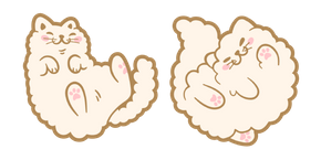 Cute Beige Cat Cursor