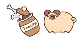 Pugsheen and Bone Treats Cursor
