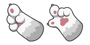 White Cat Paw Cursor
