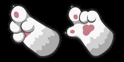 White Cat Paw Curseur