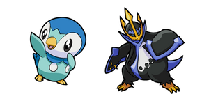Pokemon Piplup and Empoleon