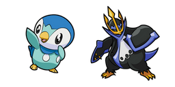 Pokemon Piplup and Empoleon Curseur