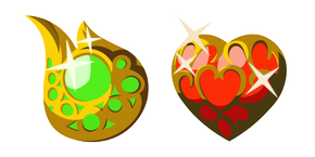 Zelda Stamina Vessel and Heart Container Cursor