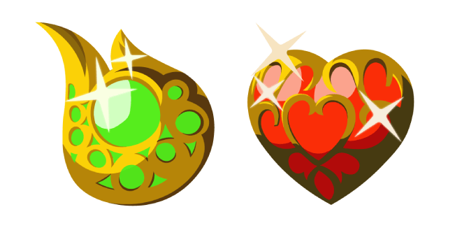 Zelda Stamina Vessel and Heart Container