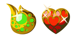 Zelda Stamina Vessel and Heart Container Cursor