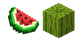 Minecraft Melon Slice and Melon Curseur