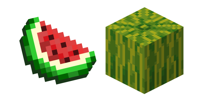 Minecraft Melon Slice and Melon