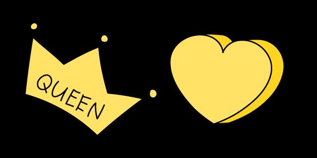 VSCO Girl Queen Crown and Heart