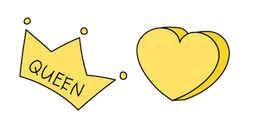 VSCO Girl Queen Crown and Heart Cursor