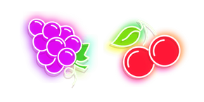 Purple Grape and Red Cherry Neon Cursor