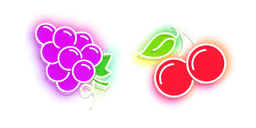 Purple Grape and Red Cherry Neon Cursor