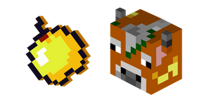 Курсор Minecraft Golden Apple Cow