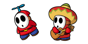 Super Mario Fly Guy and Sombrero Guy Cursor