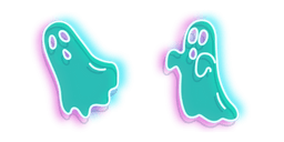 Turquoise Ghost Neon Cursor