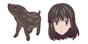 Fruits Basket Kagura Sohma Curseur