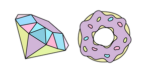 VSCO Girl Diamond and Donut Cursor
