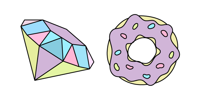 VSCO Girl Diamond and Donut