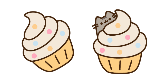 Pusheen and Cupcake
