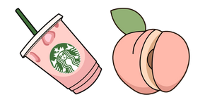 VSCO Girl Starbucks Cup and Peach Cursor