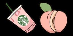 VSCO Girl Starbucks Cup and Peach Curseur