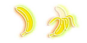 Yellow Banana Neon Cursor