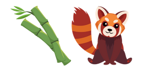 Red Panda and Bamboo Cursor
