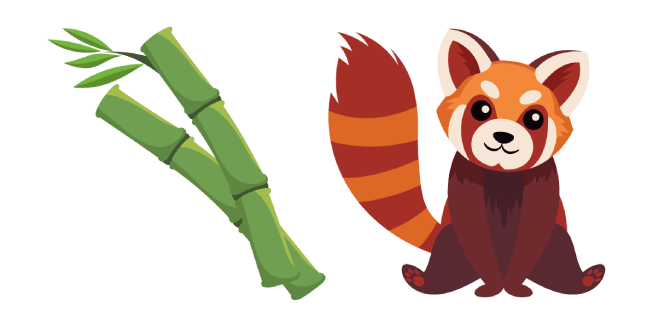 Red Panda and Bamboo