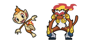 Pokemon Chimchar and Infernape Curseur
