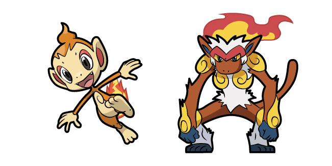Pokemon Chimchar and Infernape