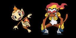Pokemon Chimchar and Infernape