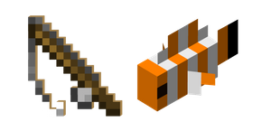 Minecraft Fishing Rod and Clownfish Cursor