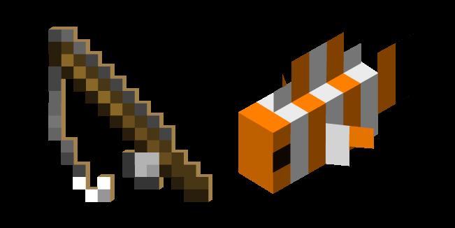 Minecraft Удочка и Рыба-Клоун