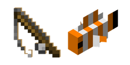 Minecraft Fishing Rod and Clownfish Curseur