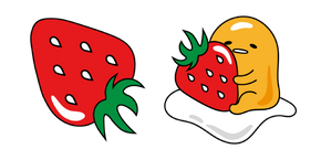 Gudetama and Strawberry Curseur