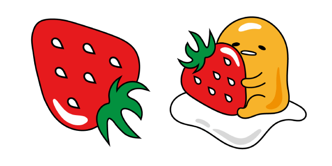 Gudetama and Strawberry