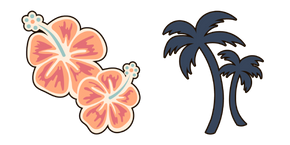 VSCO Girl Hibiscus and Palms Cursor