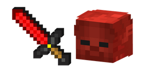 Minecraft Redstone Sword and Red Steve Cursor