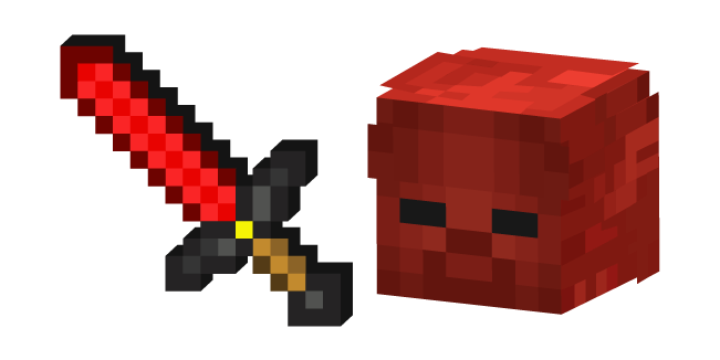 Minecraft Redstone Sword and Red Steve