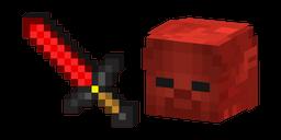 Minecraft Redstone Sword and Red Steve Cursor