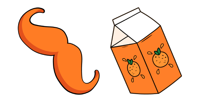 VSCO Girl Усы и Апельсиновый Сок