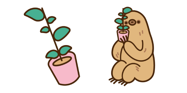 Sloth and Plant
