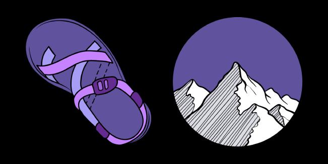 VSCO Girl Сандалии и Горы