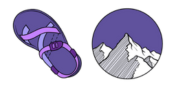 VSCO Girl Sandals and Mountains Cursor