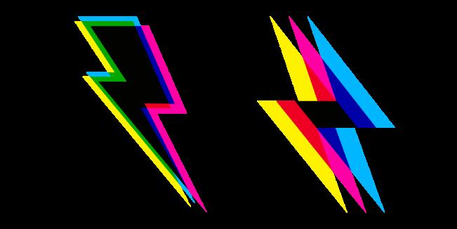 CMYK Lightning Bolt