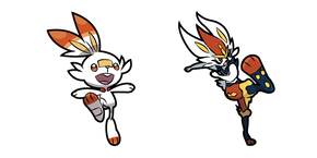 Pokemon Scorbunny and Cinderace Curseur