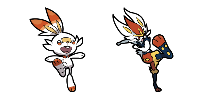 Pokemon Scorbunny and Cinderace