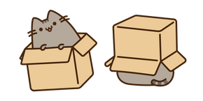 Pusheen in the Box Cursor