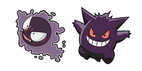 Pokemon Gastly and Gengar Curseur