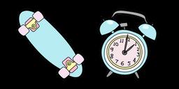 VSCO Girl Penny Board and Alarm Clock Curseur