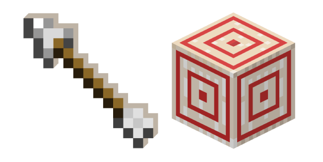 Minecraft Arrow and Target